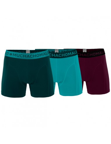 MuchachoMalo 3Pack SOLID 202 Olive Turqoise Bordeaux Heren Boxershorts