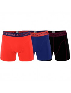 MuchachoMalo 3Pack Solid 201 Blue Red Black Jongens Boxershorts