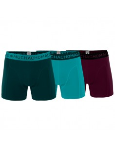 MuchachoMalo 3Pack SOLID 202 Olive Turqoise Bordeaux Jongens Boxershorts