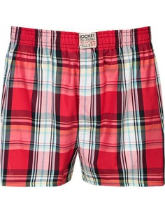 Jockey Boxershort Klassiek red block cotton