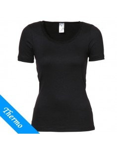 Ten Cate Thermo Dames Lace T-Shirt Zwart