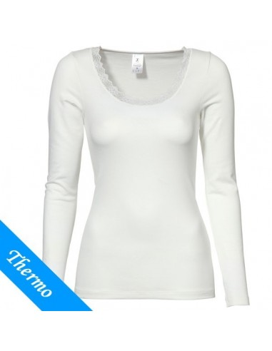 Ten Cate Thermo Dames Lace T-Shirt Longsleeve Wit