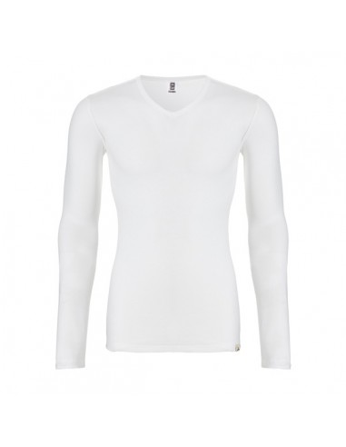 Ten Cate Heren Thermo V-Shirt Longsleeve Sneeuw Wit