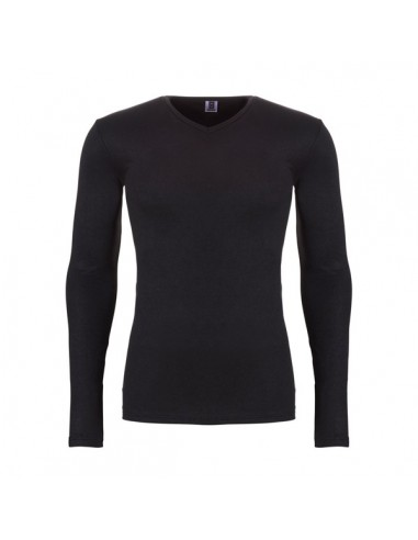 Ten Cate Heren Thermo V-Shirt Longsleeve Zwart