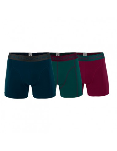 MuchachoMalo SOLID 204 3Pack Petrol Green Bordeaux Heren Boxershorts