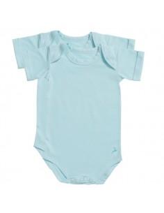 Ten Cate Baby Romper 2Pack Iced Aqua Unisex