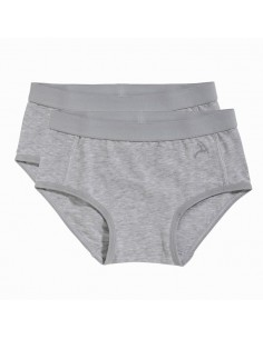 Ten Cate Meisjes Brief Slip 2Pack Grey Melee 2-6Y