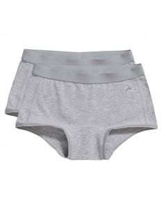 Ten Cate Meisjes Short 2Pack Grey Melee 2-6Y