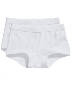 Ten Cate Meisjes Short 2Pack Wit 7-12Y