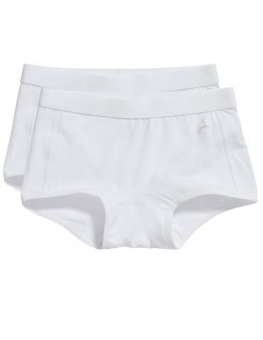 Ten Cate Meisjes Short 2Pack Wit 7-12Y