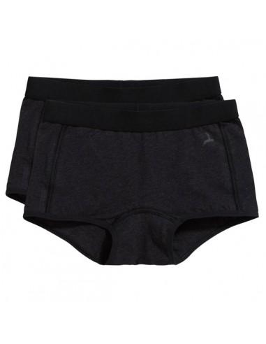 Ten Cate Meisjes Short 2Pack Zwart Melee 7-12Y