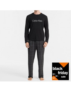 Calvin Klein Pyjama Long Sleeve Black