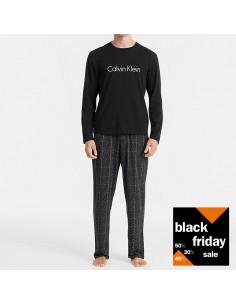 Calvin Klein Pyjama Long Sleeve Black