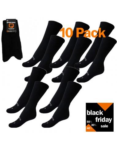 Black Friday Heren sokken Suaque Sport Zwart 10Pack