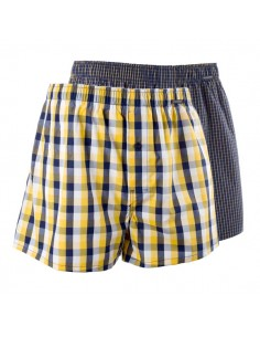 Schiesser Woven Boxershorts 2Pack Yellow Blocks