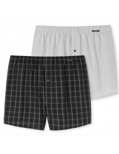 Schiesser Woven Boxershorts 2Pack Black Kind