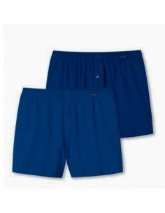 Schiesser Woven Boxershorts 2Pack Blauw Kind
