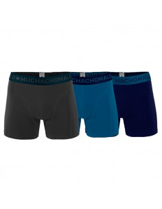 MuchachoMalo 3Pack SOLID 202 Dark Grey Blue Navy Jongens Boxershorts