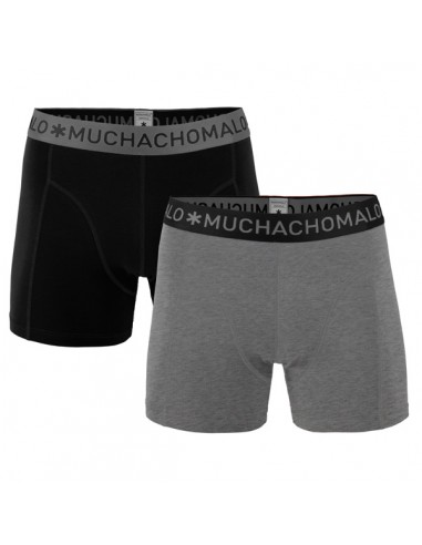 MuchachoMalo 2Pack SOLID 199 Grey Melee Black Jongens Ondergoed