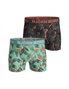 Björn Borg Short 2Pack BB VIBRANT LEAVES & SUPER SHADE Biscay Green