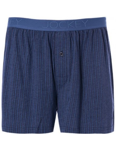 Jockey Boxershort Klassiek Woven Stipe Blue Horizon