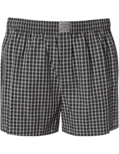 Jockey Boxershort Klassiek Woven 2Pack Ruit Black