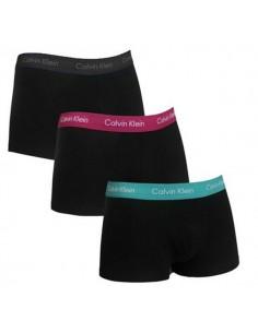 Calvin Klein Ondergoed 3PackBlauw Paars Donker Blauw Low Rise Trunk