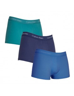Calvin Klein Ondergoed 3Pack Blue Mix Low Rise Trunk