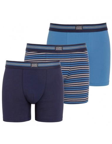 Jockey Boxershorts 3 pack Classic Maritime Blue Trunk