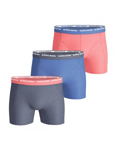 Bjorn Borg 3Pack Boys Basic Solids Blue Red Boxershorts