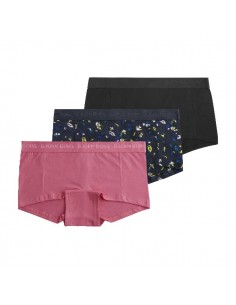 Bjorn Borg Dames 3Pack BB PAPER FLOWER MIA MINI SHORTS Total Eclips