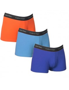 Calvin Klein Ondergoed 3Pack Orange Blue Navy Low Rise Trunk
