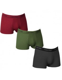 Calvin Klein Ondergoed 3Pack Army Green Red Black Low Rise Trunk