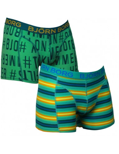 Bjorn Borg Hashtag Beach Stripe Green 2Pack Boxershorts Jongens Ondergoed