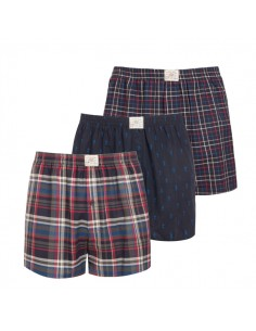 Jockey Boxershort Klassiek Woven 3Pack Ruit Navy Red