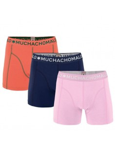 MuchachoMalo SOLID 217 3Pack Light Pink Navy Coral Heren Boxershorts