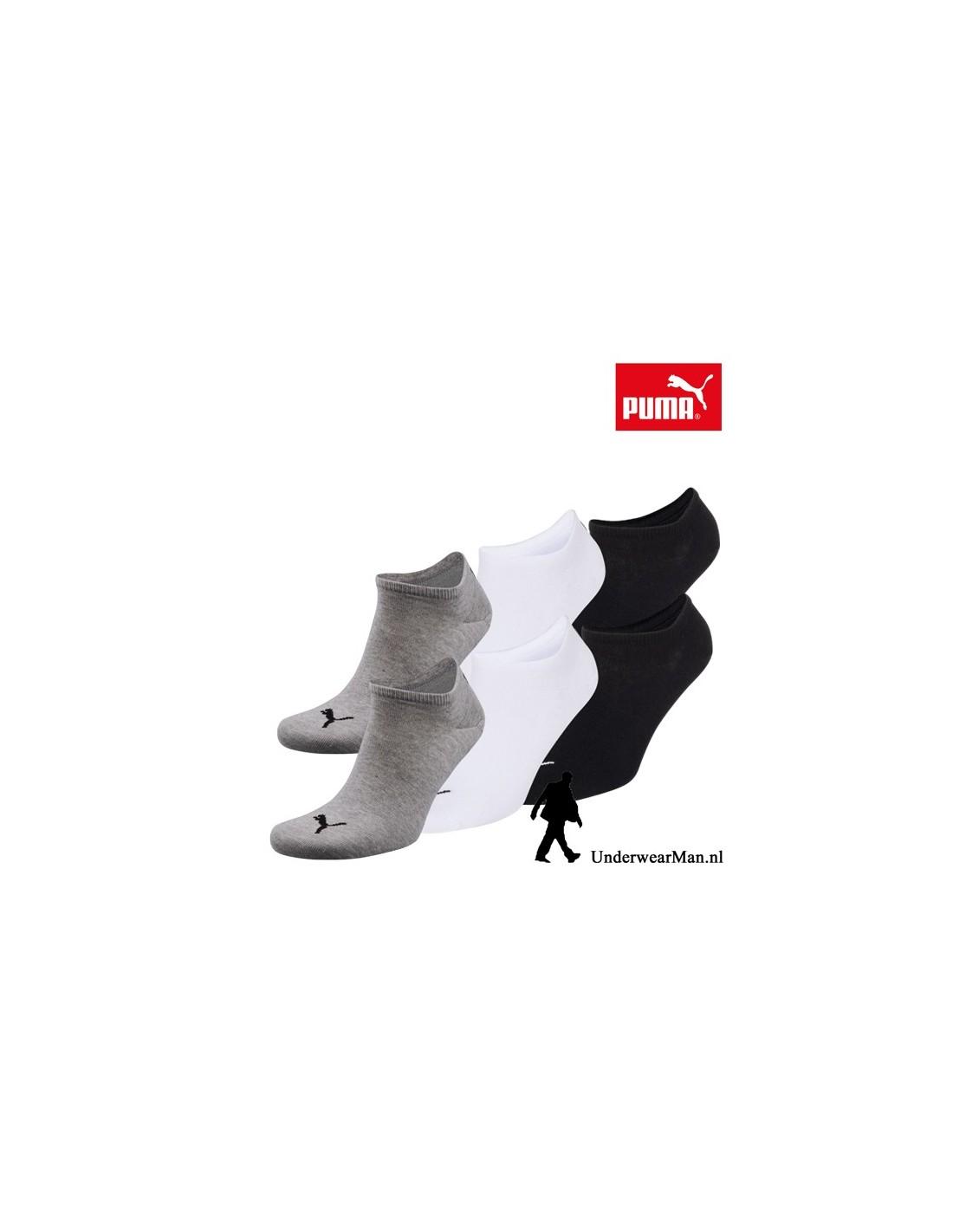 0155ace853a Puma Sokken 3Pack Sneaker Invisible GreyWhiteBlack - UnderwearMan.nl