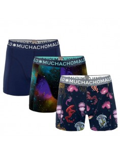 MuchachoMalo 3Pack SOLID 204 Petrol Green Bordeaux Jongens Boxershorts