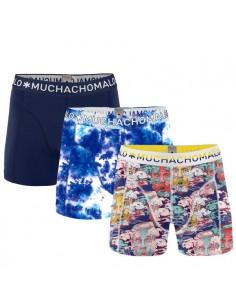 MuchachoMalo 3Pack SOLID 203 Dark Grey Blue Navy Jongens Boxershorts