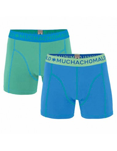 MuchachoMalo 2Pack SOLID 209 Blue Bright Green Jongens Boxershorts