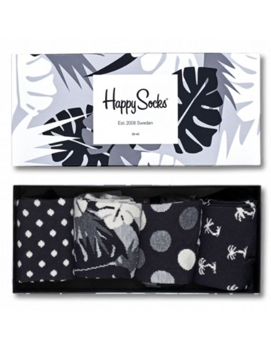 Happy Socks Giftbox Black and White 41-46