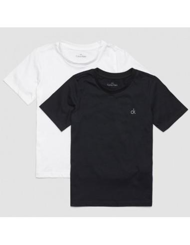 Calvin Klein Modern Cotton T-Shirts 2Pack Zwart-Wit Jongens Ondergoed