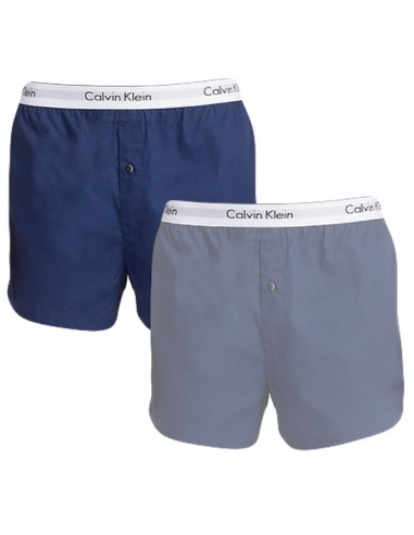 Calvin Klein Ondergoed Woven 2Pack Blauw Donker Blauw