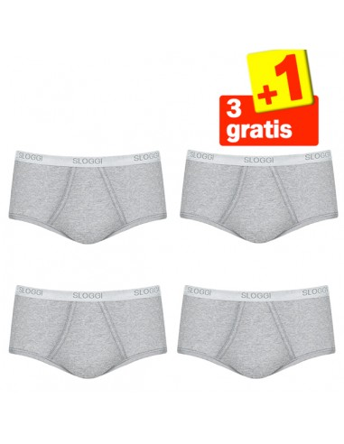 Sloggi Men Basic Maxi Grijs 4Pack, 3+1 gratis