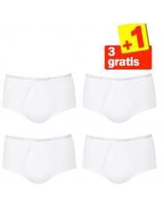 Sloggi Men Basic Maxi Wit 4Pack, 3+1 gratis