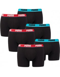 Puma Boxershort 6 pack black red blue