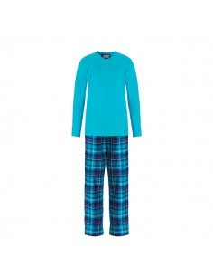 Ten Cate Dames Pyjama Turquoise Check