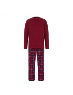 Ten Cate Heren Pyjama Bordeaux Check