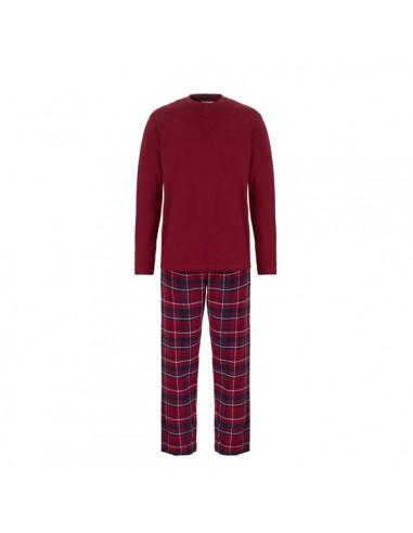 Ten Cate Heren Pyjama Bordeaux Check