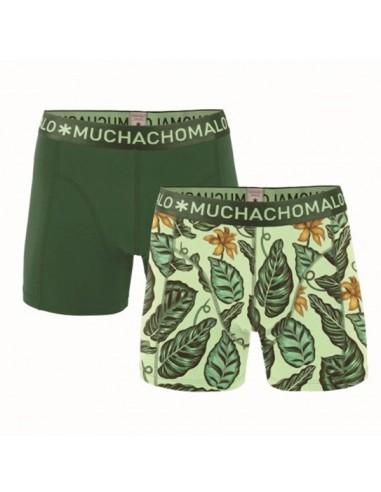 MuchachoMalo Cotton Modal Green 2Pack Heren Boxershorts